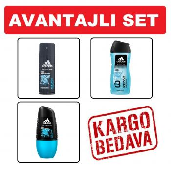 Adidas ICE DIVE set ( Deodorant + Duş Jeli + Roll on )