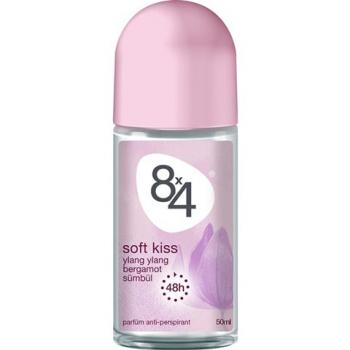 8X4 Roll-On Soft Kiss Deodorant 50ml Kadın